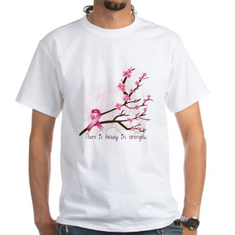 Breast Cancer Awareness White T Shirt Breast Cancer