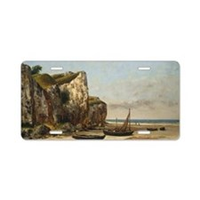 Beach in Normandy Aluminum License Plate