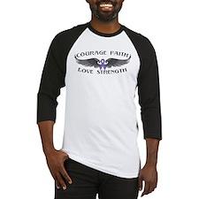 Hodgkins Lymphoma Courage Wings Baseball Jersey