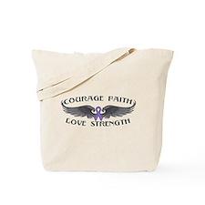 Hodgkins Lymphoma Courage Wings Tote Bag