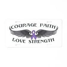 Hodgkins Lymphoma Courage Wings Aluminum License P