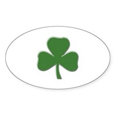 Crossed Stitched Look Shamrock Decal