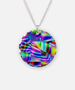 Psychedelic Abstract Colors Necklace