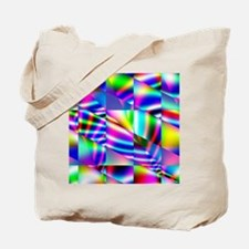 Psychedelic Abstract Colors Tote Bag
