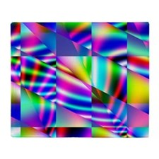 Psychedelic Abstract Colors Throw Blanket