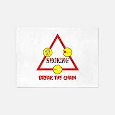 Smoking Triangle 5'x7'Area Rug