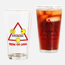 Smoking Triangle Drinking Glass