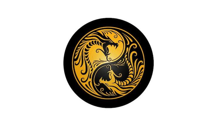Yin Yang Dragon Button | Yin Yang Dragon Buttons, Pins