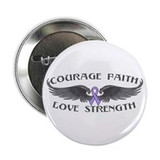 """General Cancer Courage Wings 2.25"""" Button"""