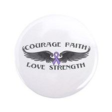 """General Cancer Courage Wings 3.5"""" Button"""