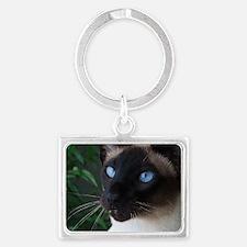 Siamese Cat Landscape Keychain