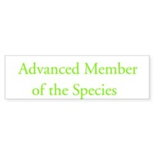 Advanced Member of Species Bumper Car Sticker