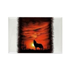 Coyote Howling Magnets