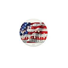 PATRIOTIC GOD BLESS AMERICA Mini Button