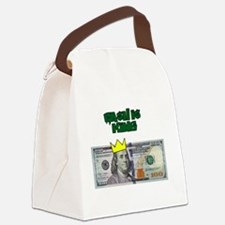 Cash Is King Canvas Lunch Bag