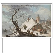 Hendrik Meyer - A Winter Scene Yard Sign