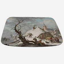 Hendrik Meyer - A Winter Scene Bathmat