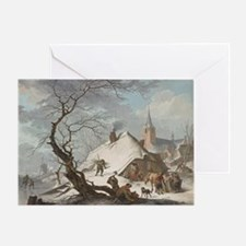 Hendrik Meyer - A Winter Scene Greeting Card