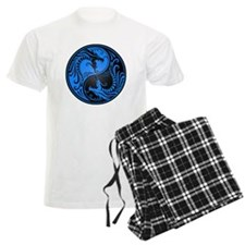 Blue and Black Yin Yang Dragons pajamas