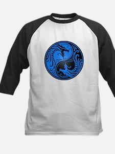 Blue and Black Yin Yang Dragons Baseball Jersey