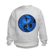 Blue and Black Yin Yang Dragons Jumpers