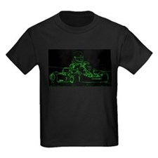 Kart Racer in Green T-Shirt