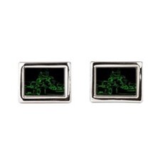 Kart Racer in Green Cufflinks