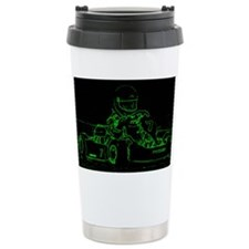 Kart Racer in Green Travel Mug