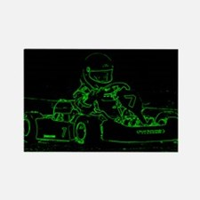 Kart Racer in Green Magnets