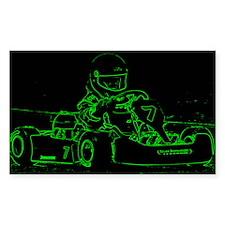 Kart Racer in Green Decal