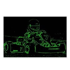 Kart Racer in Green Postcards (Package of 8)