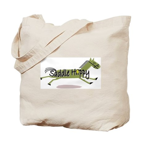 Saddle Happy Horse Tote Bag