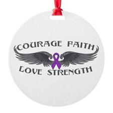 Epilepsy Courage Wings Ornament