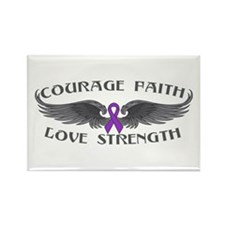 Epilepsy Courage Wings Rectangle Magnet
