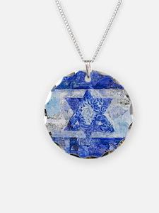 Israeli Flag Necklace