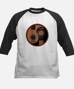 Brown and Black Yin Yang Acoustic Guitars Baseball