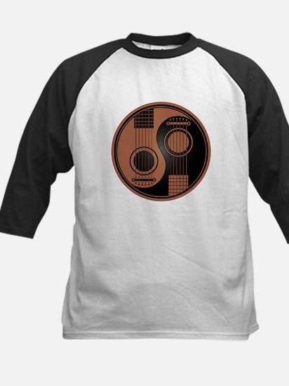 Brown and Black Yin Yang Acoustic Guitars Baseball