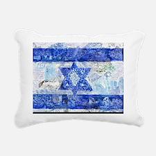 Flag of Israel Rectangular Canvas Pillow