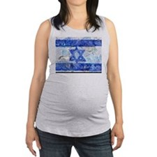 Flag of Israel Maternity Tank Top