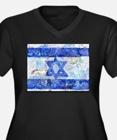 Flag of Israel Plus Size T-Shirt