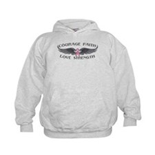 Breast Cancer Courage Wings Hoodie