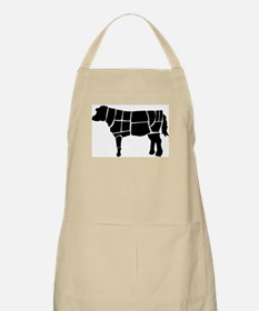 Butchered Cow Silhouette Apron