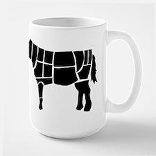 Butchered Cow Silhouette Mugs