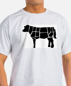 Butchered Cow Silhouette T-Shirt