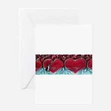 Boston Terrier hearts Trees of Life Greeting Cards