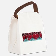 Boston Terrier hearts Trees of Life Canvas Lunch B