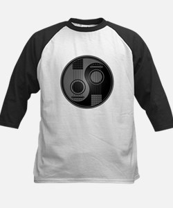 Grey and Black Yin Yang Acoustic Guitars Baseball