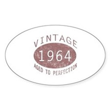 1964 Vintage Birthday (red) Decal