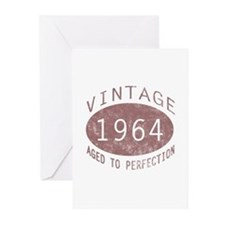 1964 Vintage Birthday (red) Greeting Cards (Pk of