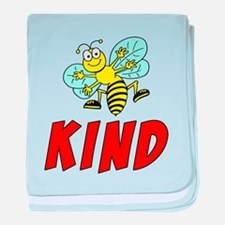 Bee Kind baby blanket